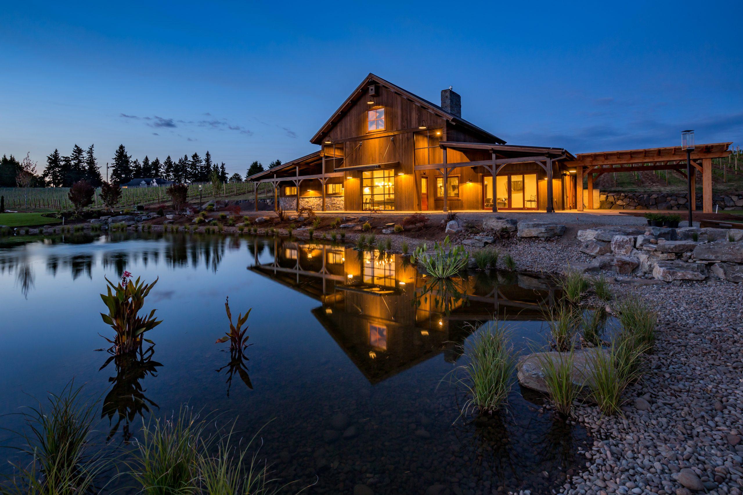 The Barrel House Timber Framed Hybrid Home