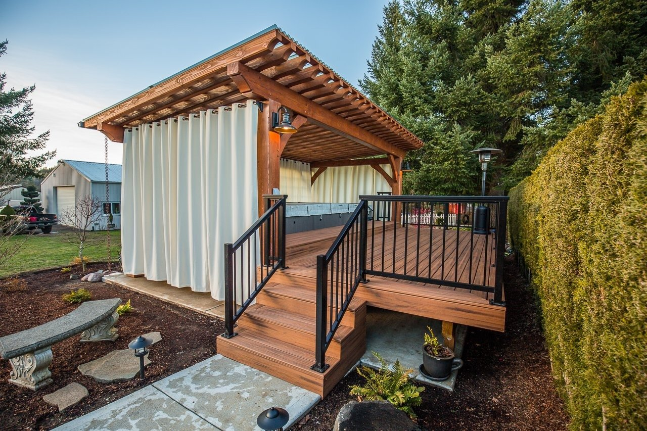 The Cipriano Timber Frame Pergola in Boring, OR