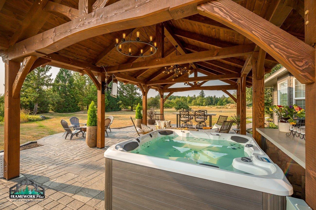 The Miller Timber Frame Hot Tub
