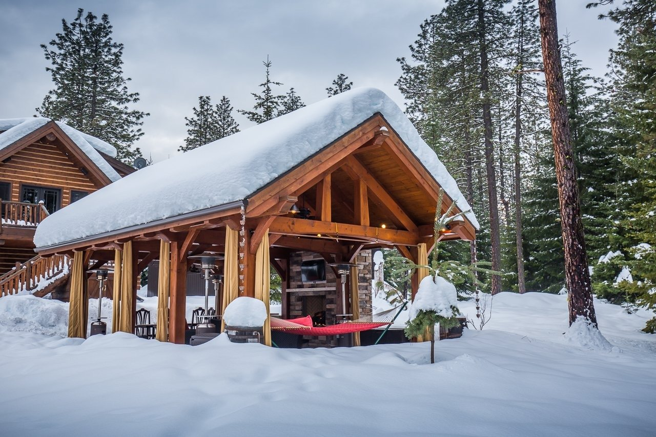 The Stell Timber Frame in Trout Lake, WA