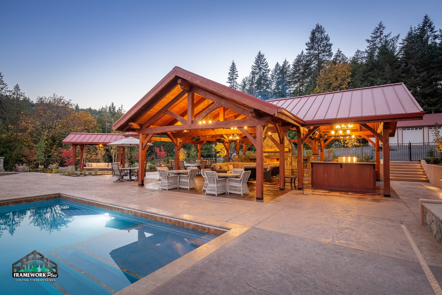 The Willamette Valley Paradise Timber Frame