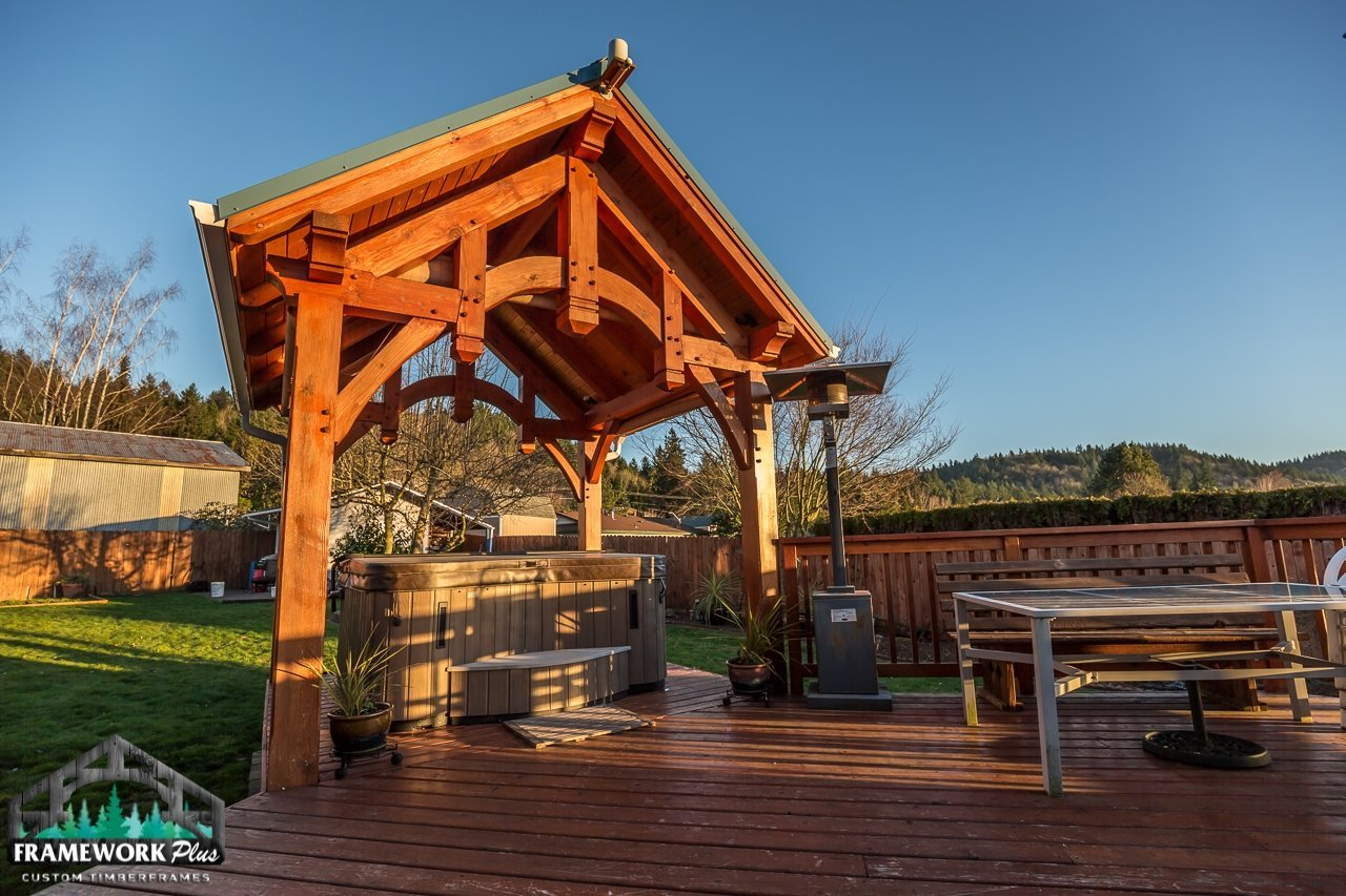The Summit Timber Frame Pavilion Kit in Gresham, OR Exterior View