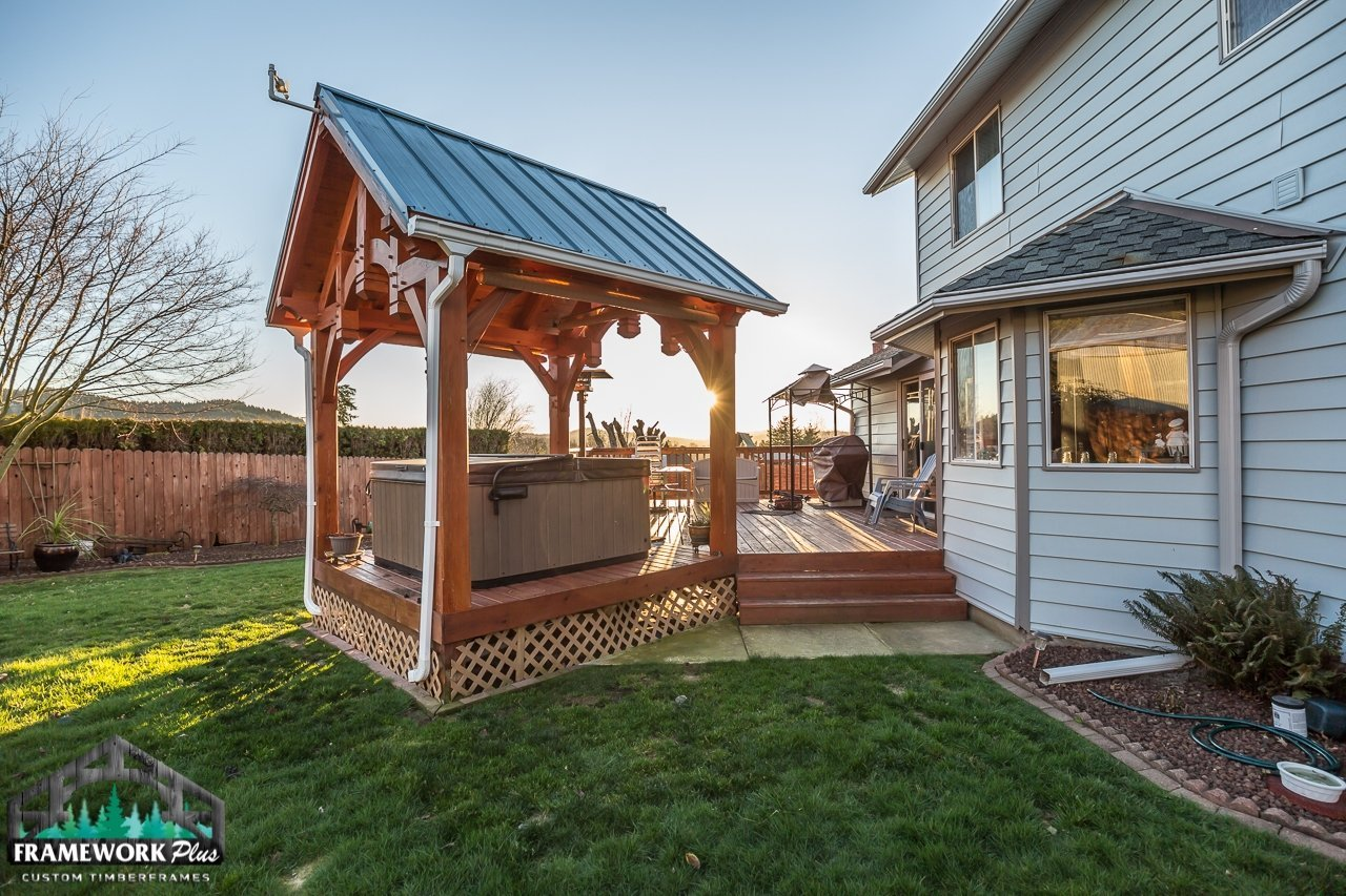 The Summit Timber Frame Pavilion Kit in Gresham, OR Exterior View 3