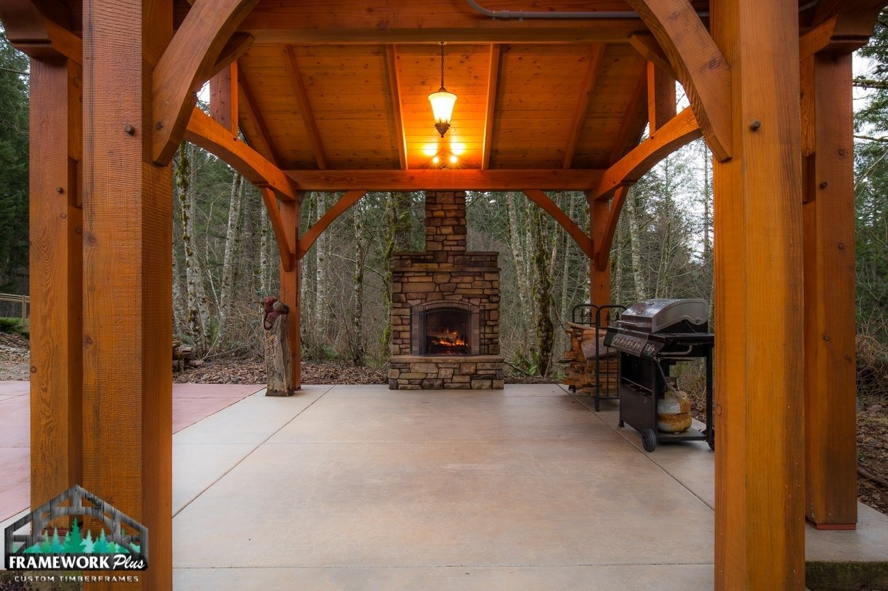 The Alpine Timber Frame Pavilion Kit in Brush Prairie, WA Floor View