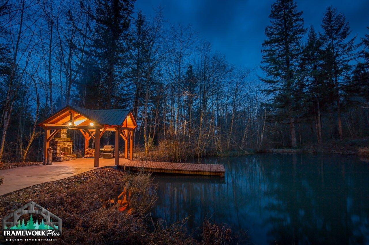 The Alpine Timber Frame Pavilion Kit in Brush Prairie, WA Outside View