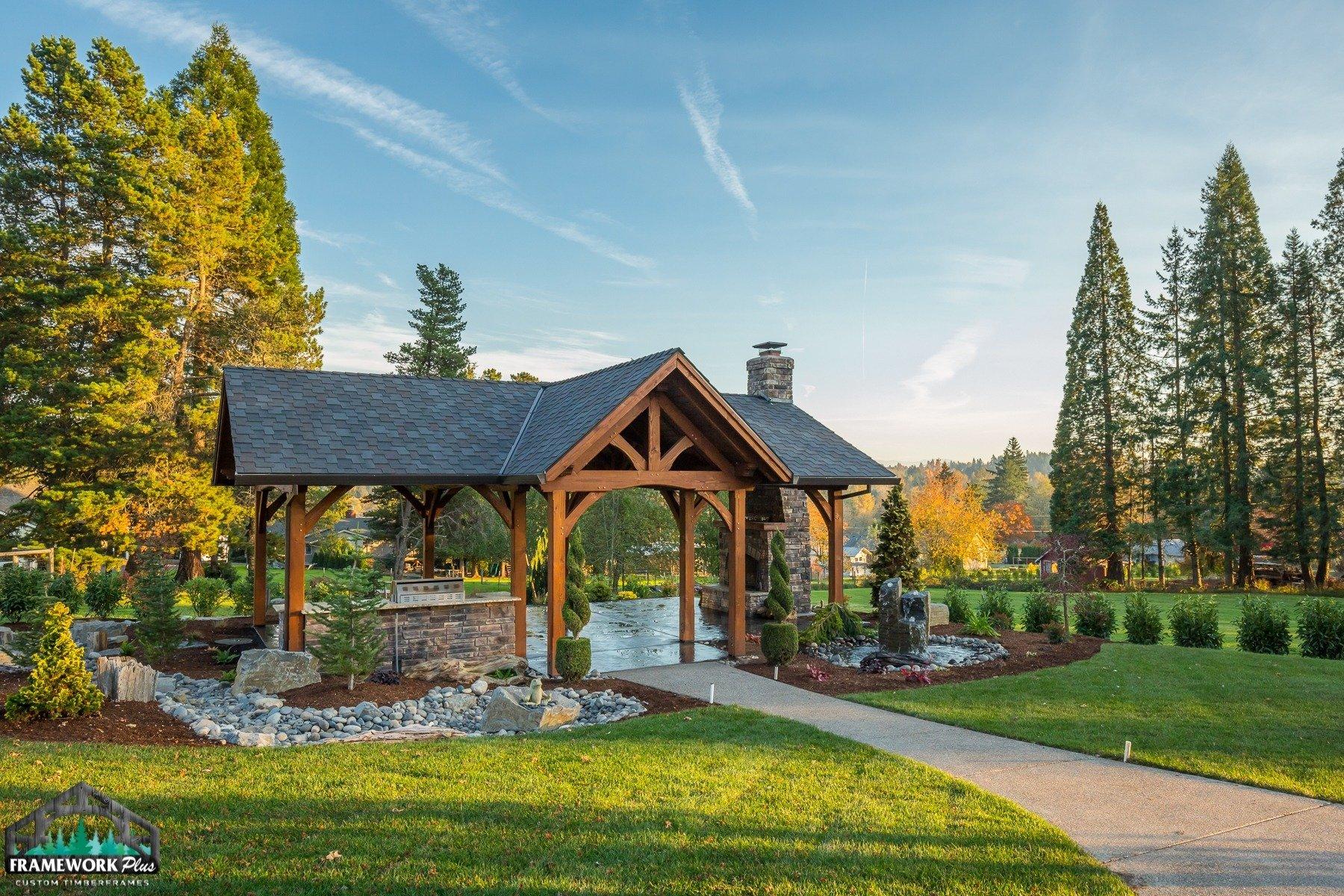 Timber Frame Pavilion Lindhorst Exterior