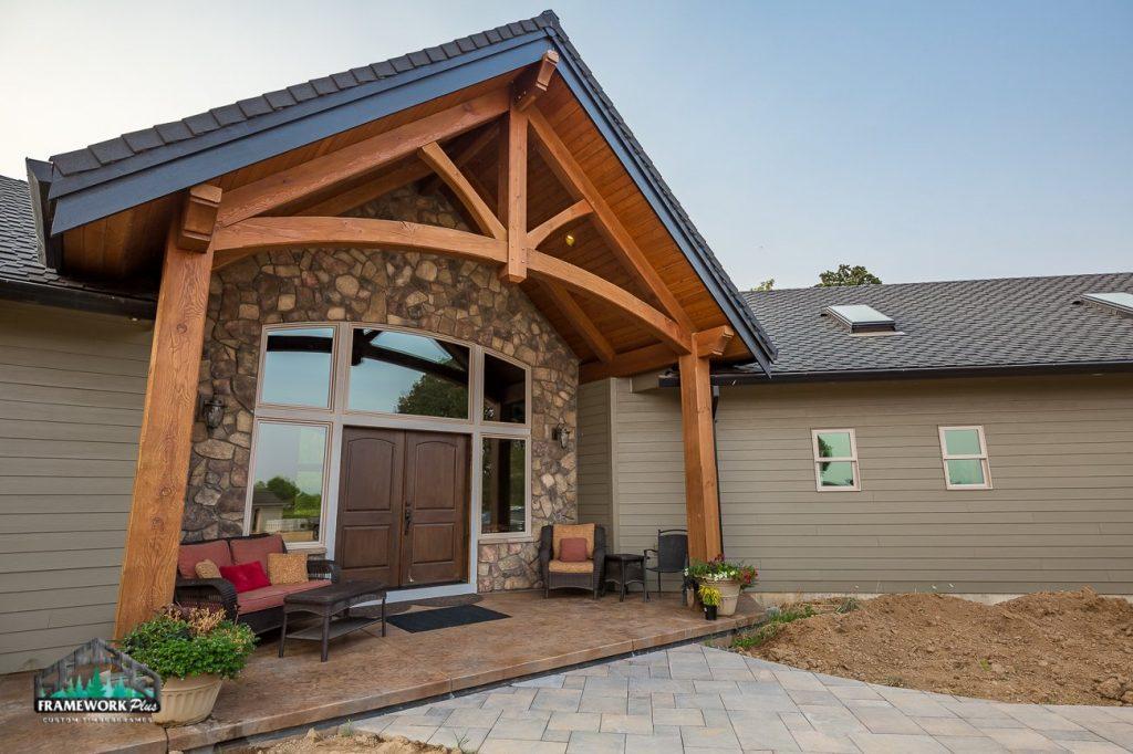 Hybrid Home Exterior Entrance View