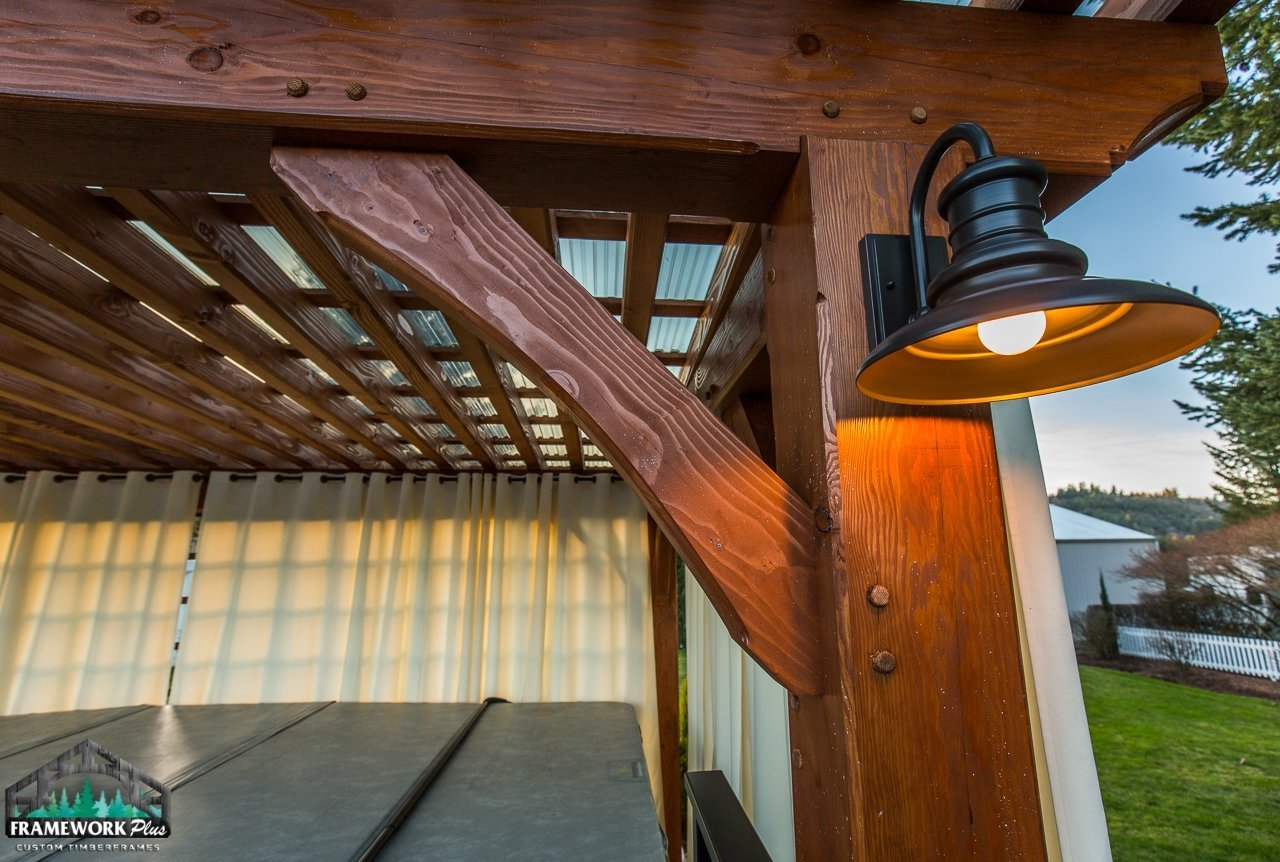 Timber Frame Pergola Kit Knee Brace View