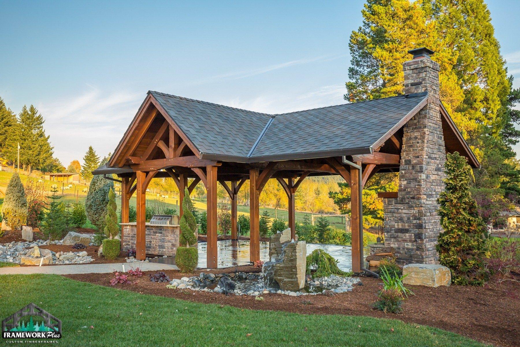 Timber Frame Pavilion Lindhorst Exterior II
