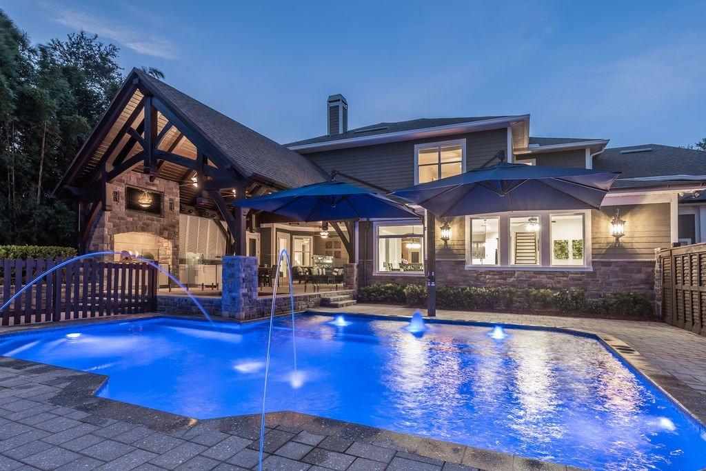 Florida House Exterior Pool Patio Cover