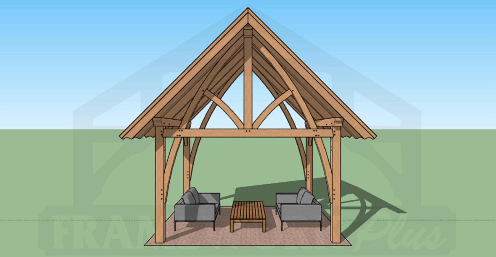 Columbia Timber Frame Rendering with BBQ 3