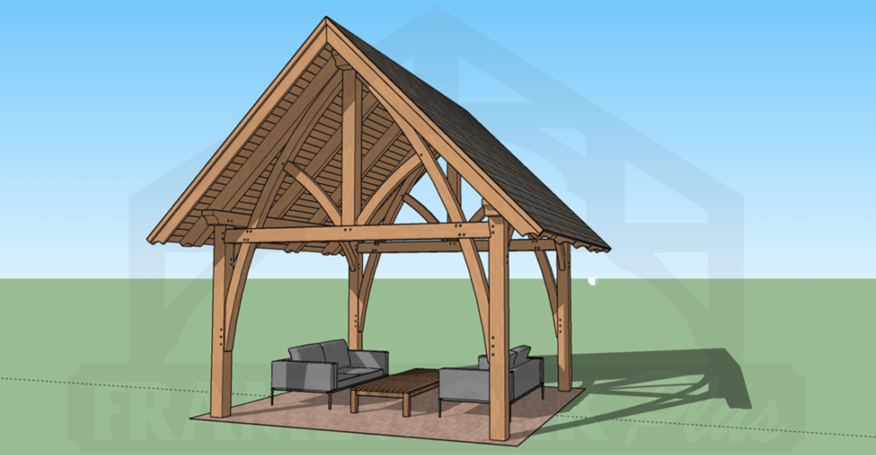 Columbia Timber Frame Rendering with BBQ 4