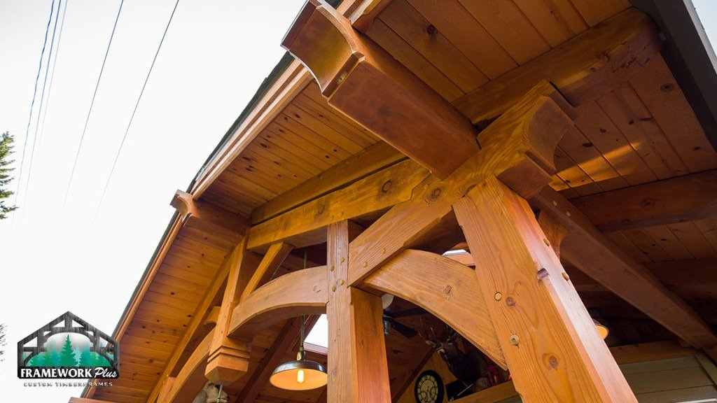 Timber Frame Truss Side View