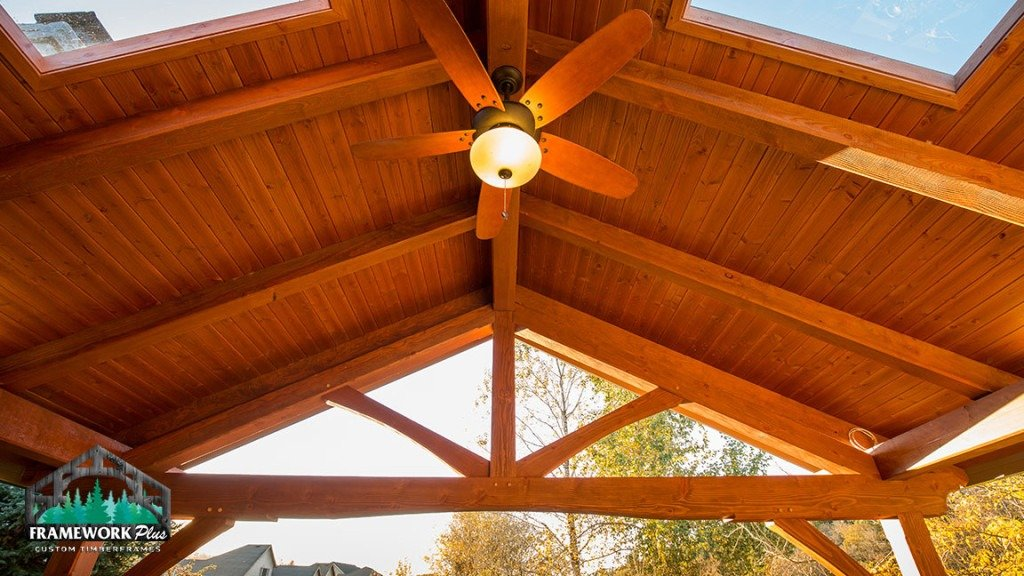 Patio Cover Truss Roof View Interior