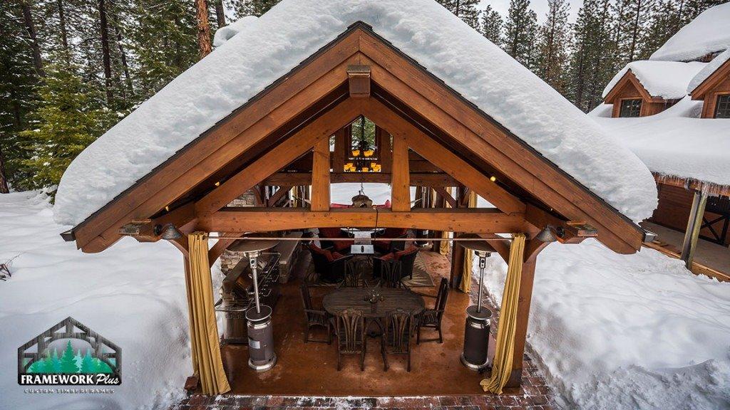 Trout Lake, WA Timber Frame Pavilion Truss II