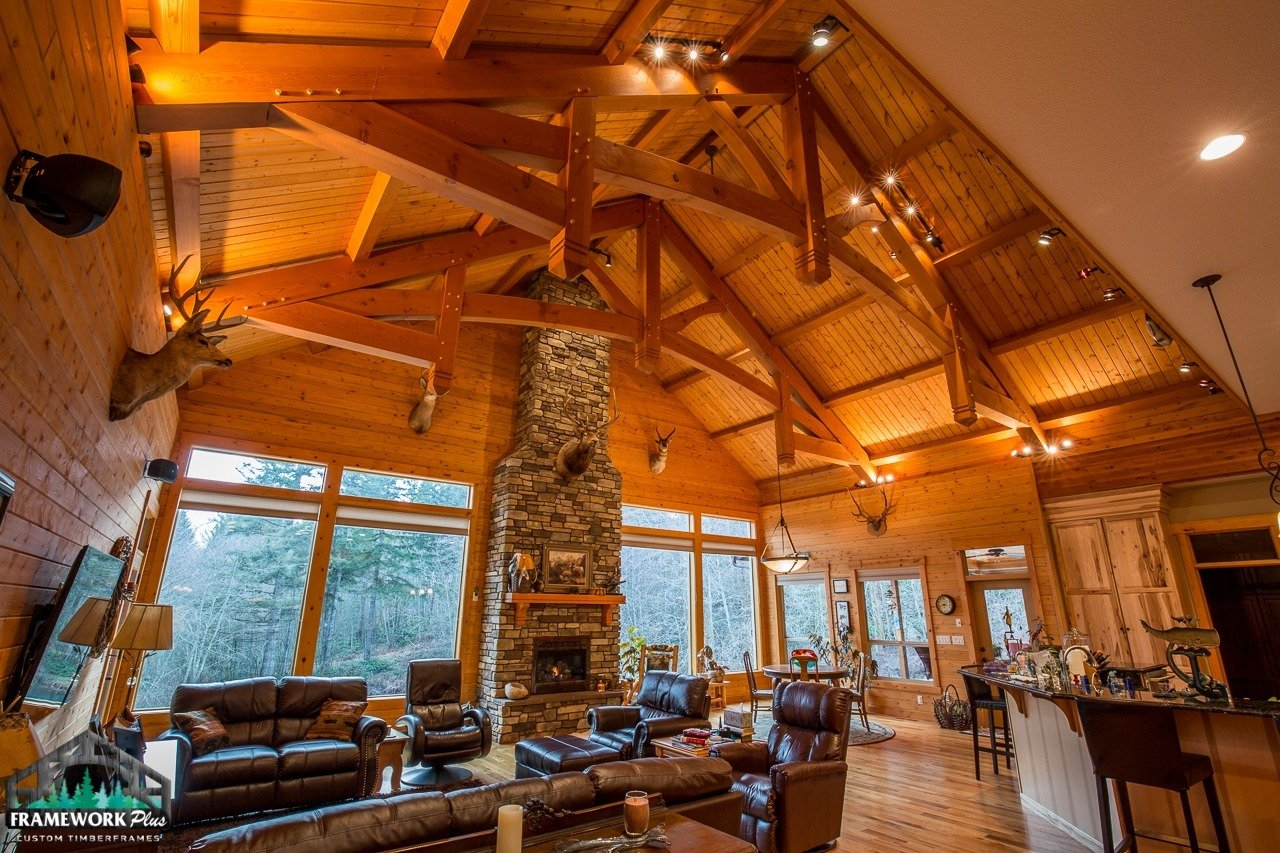 Brush Prairie, WA Hybrid Home Mantel and Trusses