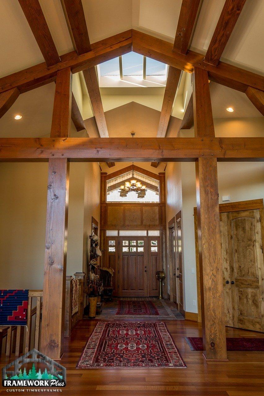 Gresham, OR Hybrid Home Entry Hallway with Truss