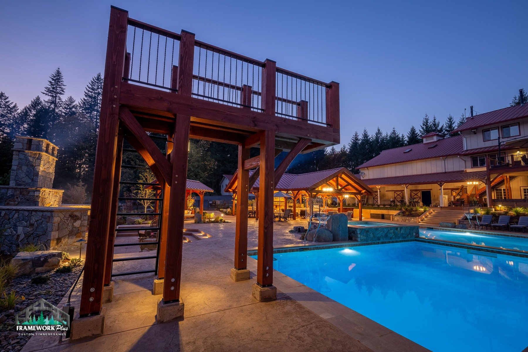 Willamette Valley, OR Diving Board and Pavilion