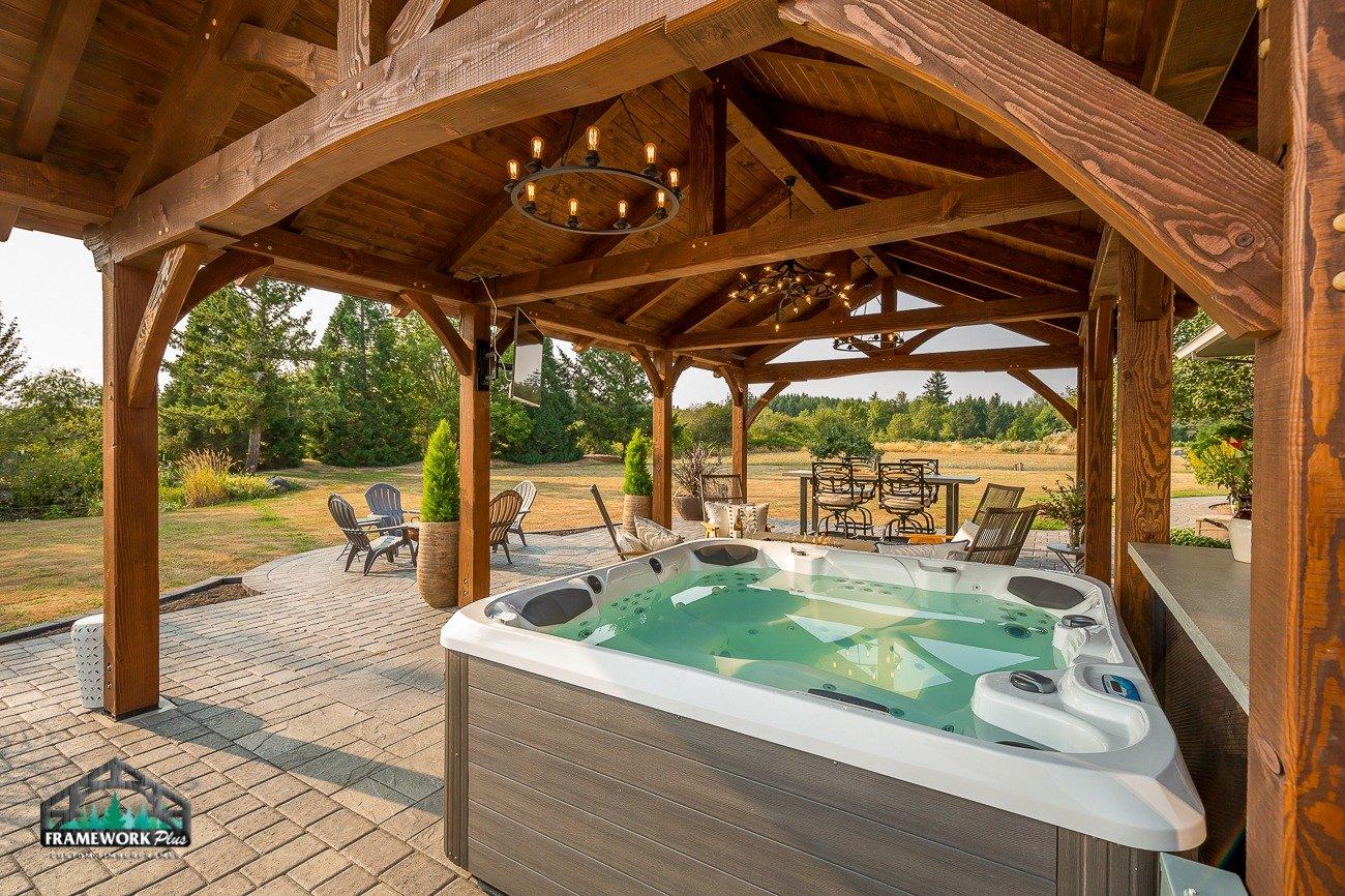 Eagle Creek, OR Pavilion Truss and Hot Tub III