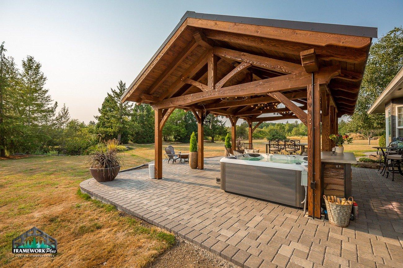 Eagle Creek, OR Pavilion Truss and Hot Tub II