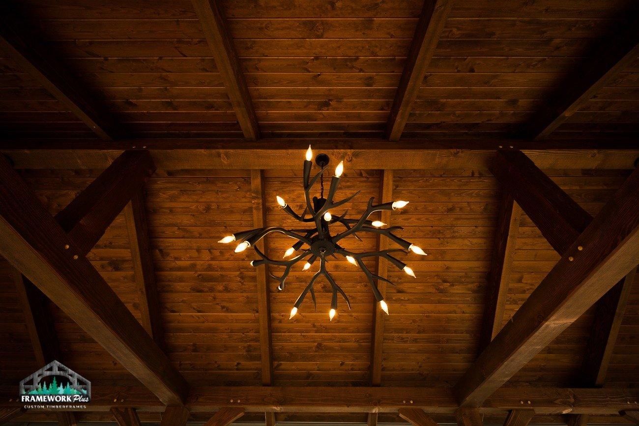 Eagle Creek, OR Pavilion Interior Ceiling and Chandelier