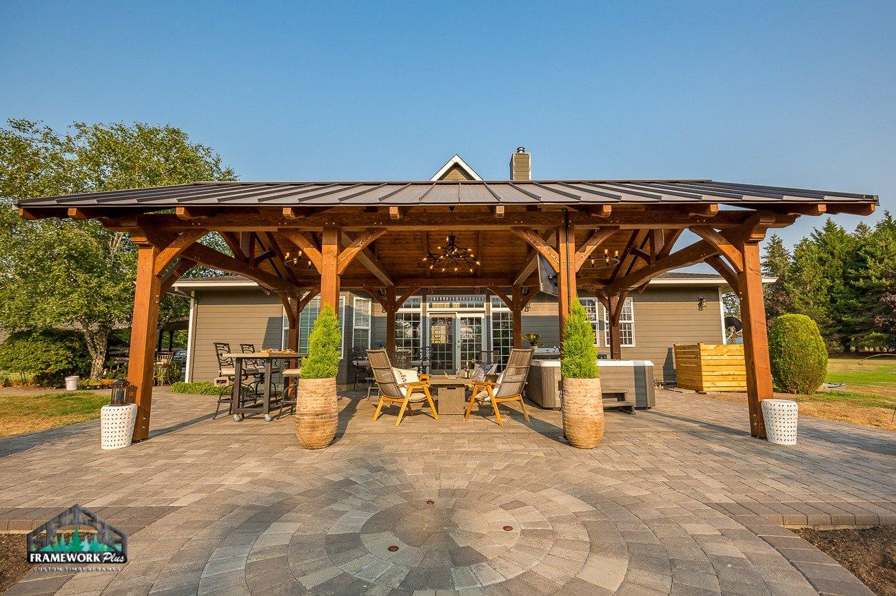 Eagle Creek, OR Pavilion Interior Side