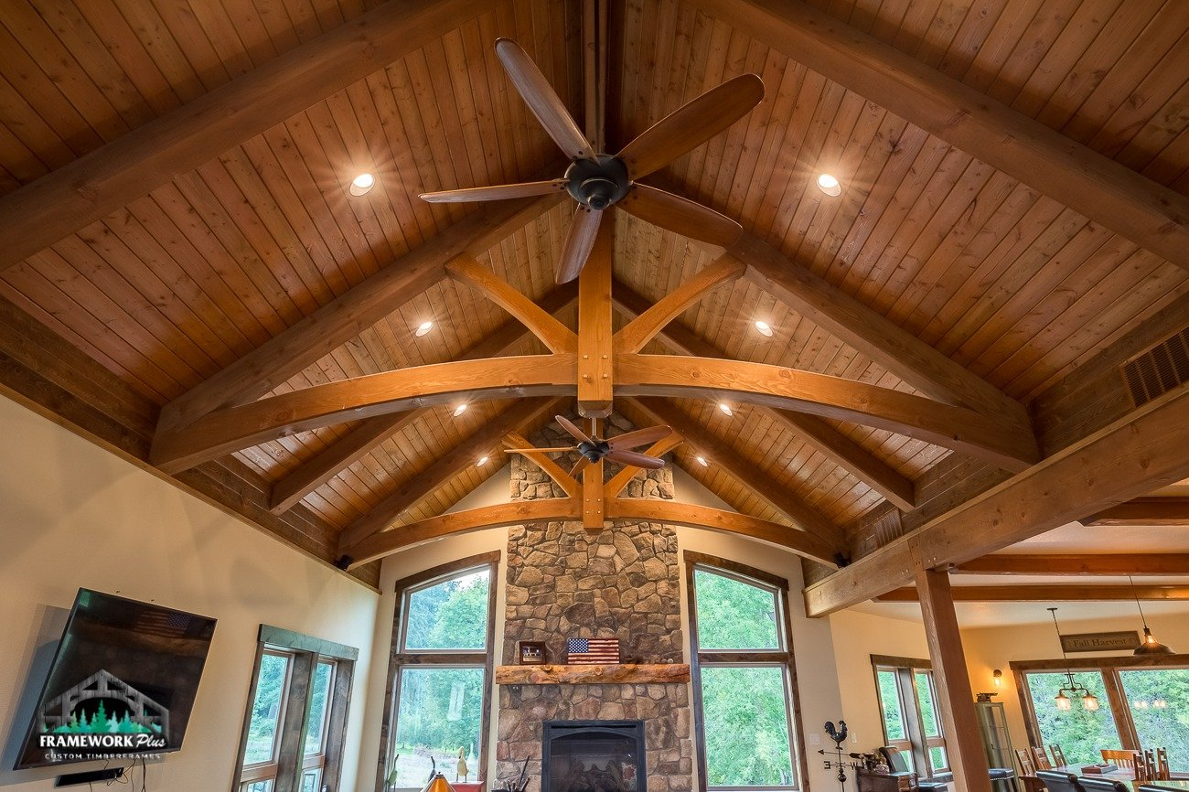 Canby, OR Hybrid House Interior Ceiling