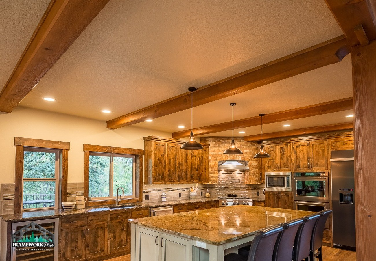 Canby, OR Hybrid House Interior Kitchen with Beams