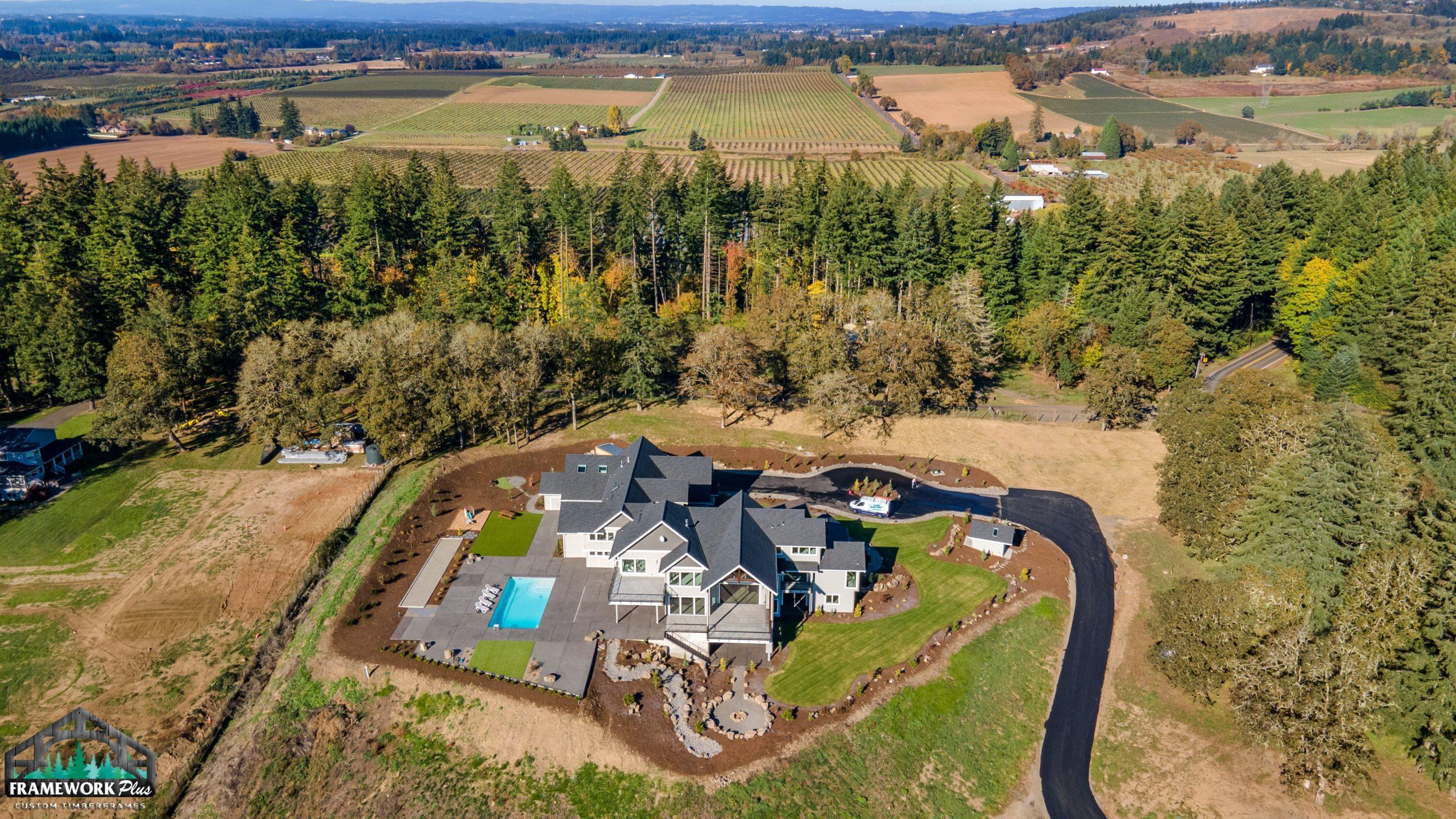 Clark Hill Estate Exterior Drone Shot