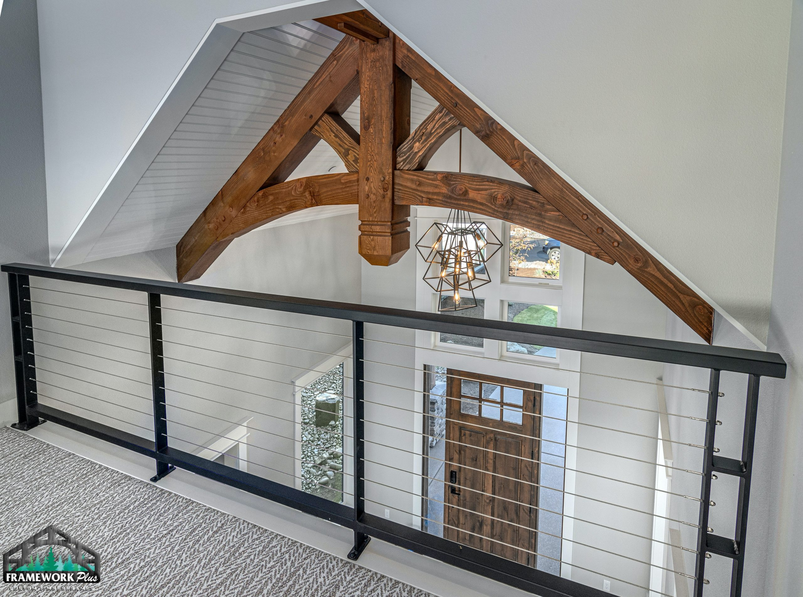 Clark Hill Estate Interior Truss Side From 2nd Floor